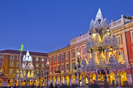Christmas night in Nice, France